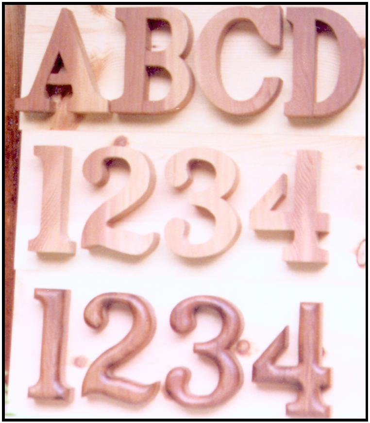 WOOD NUMBERS AND LETTERS