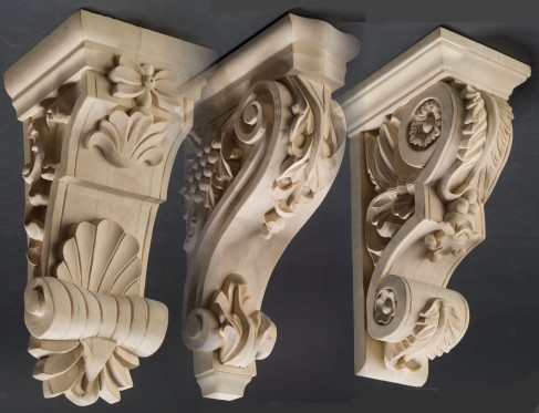 Carved Wood Corbels